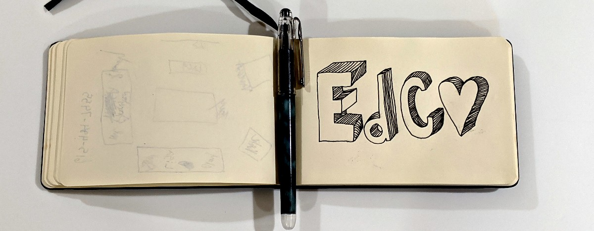 EdCo Scribbled in School Notebook